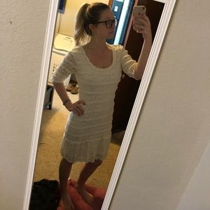 Max Edition White Lace Dress